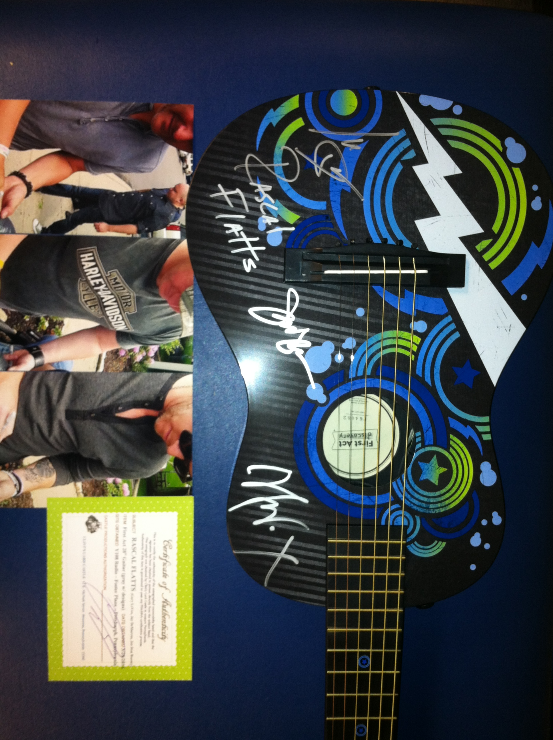 Authentic Autographed Rascal Flatts Guitar
